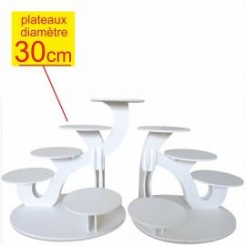 Ensemble de 2 présentoirs à gâteaux Excellence 11 gâteaux diamètre 30 cm