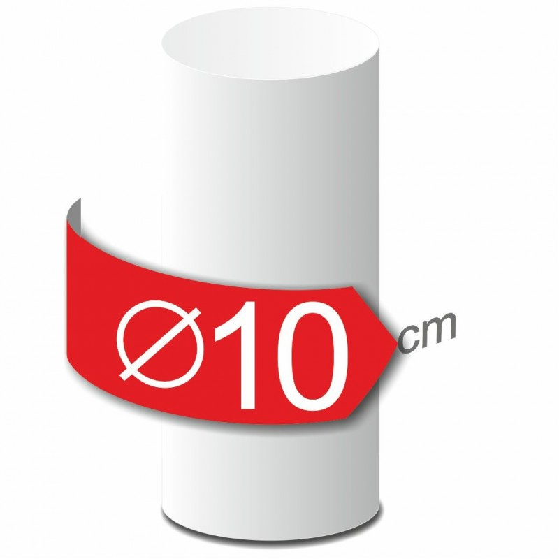 Colonne lisse en polystyrène hauteur 50 cm diamètre 10 cm