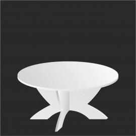 Table ronde pour wedding cake et pièce montée