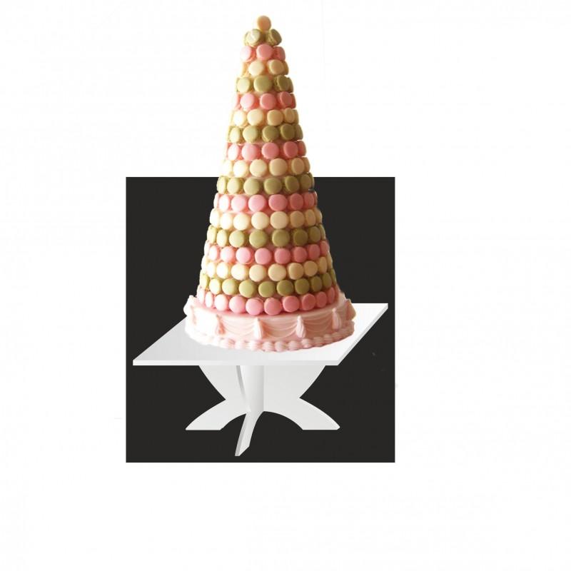 Table carrée pour wedding cake et pièce montée