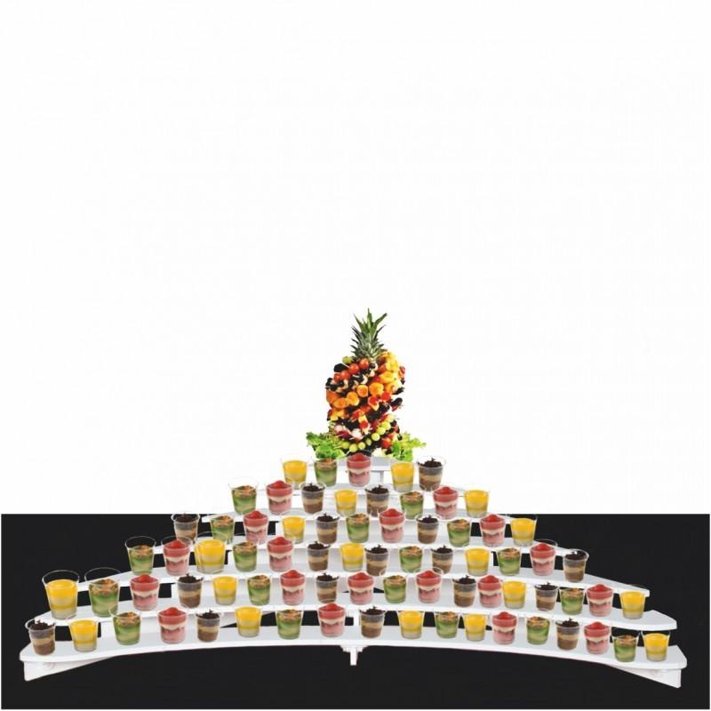 présentoir escalier géant magnum en pvc verrines cocktail lunch mariage buffet