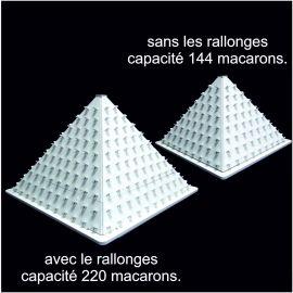 présentoir pyramide à macarons en pvc compact