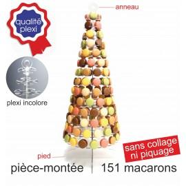 présentoir luxe cône en plexi incolore pour macarons