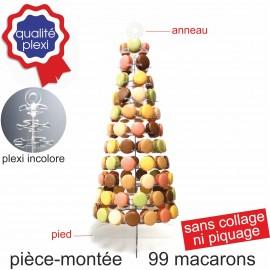Pièce montée en plexi pour 99 macarons