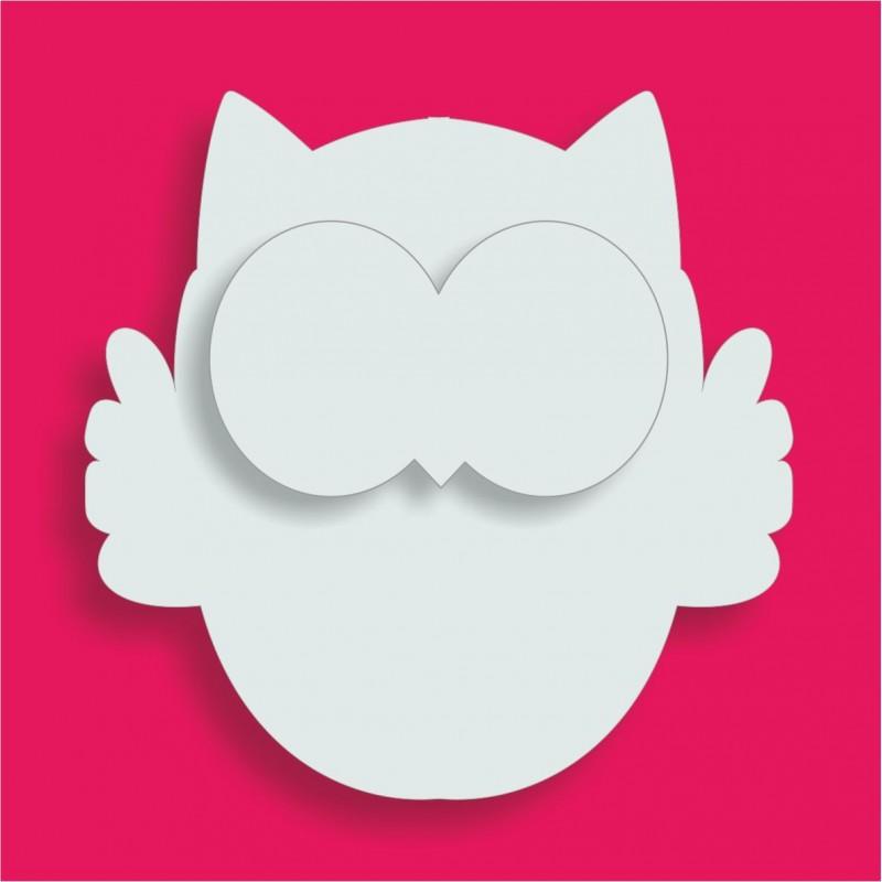 Support polystyrène Hibou pour gateau de bonbons 18x18cm ep 3+ 1cm