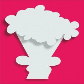Support Bouquet de fleurs polystyrène 18x18cm ep 3+1cm