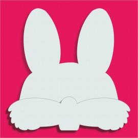 Support Tête de lapin pour gateau de bonbons 18x18cm ep 3+1cm