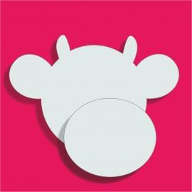 Tête de vache polystyrène pour gateau bonbons 18x21.5cm ep 3+1cm