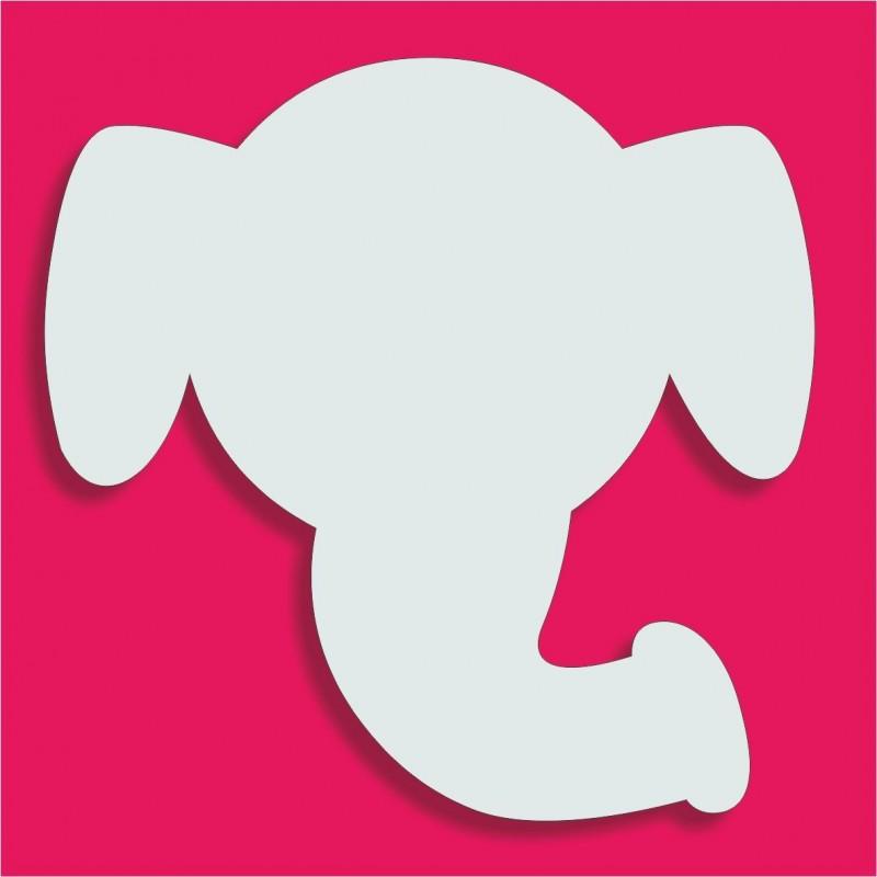 Suport gateau bonbons Tête Elephant poly 18x18cm ep 3cm