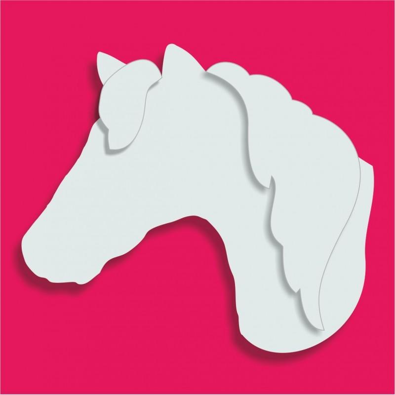Présentoir gateau de bonbons polystyrène tête de cheval