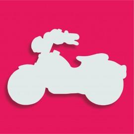 Présentoir gateau de bonbons en polystyrène moto rétro