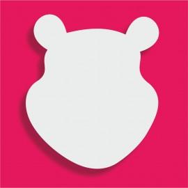 Présentoir gateau de bonbons en polystyrène tête de Winnie