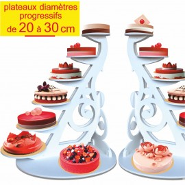 présentoir à gâteaux alto en pvc