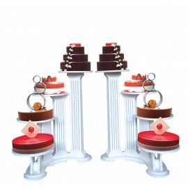 ensemble de 2 présentoirs à gâteaux olympiade 4 gâteaux