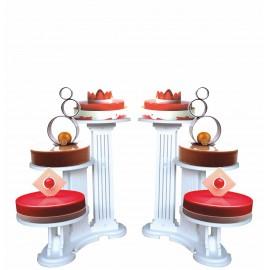 ensemble de 2 présentoirs à gâteaux olympiade 3 gâteaux