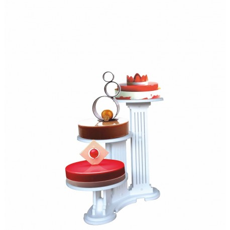 présentoir en pvc olympiade 3 gâteaux