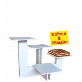 présentoir en pvc quatro traiteur et pâtissier