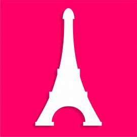 présentoir gâteau de bonbons en polystyrène tour Eiffel