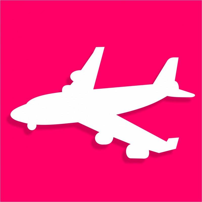 présentoir gâteau de bonbons en polystyrène avion atterrissage