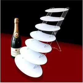 Présentoir escalier cabaret ovale pour verrines