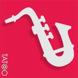 support polystyrène bonbons saxophone