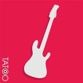 support polystyrène bonbons guitare éléctrique