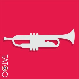support polystyrène bonbons trompette