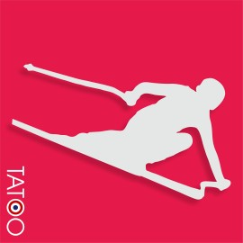 support polystyrène bonbons skieur