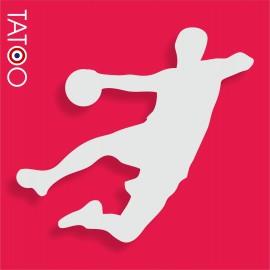 support polystyrène bonbons handballeur