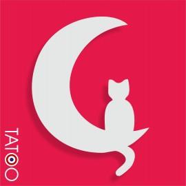 support polystyrène bonbons lune chat