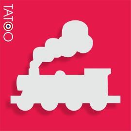 support polystyrène bonbons locomotive