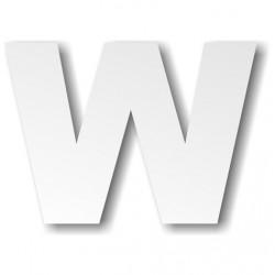 Grande lettre polystyrène W...