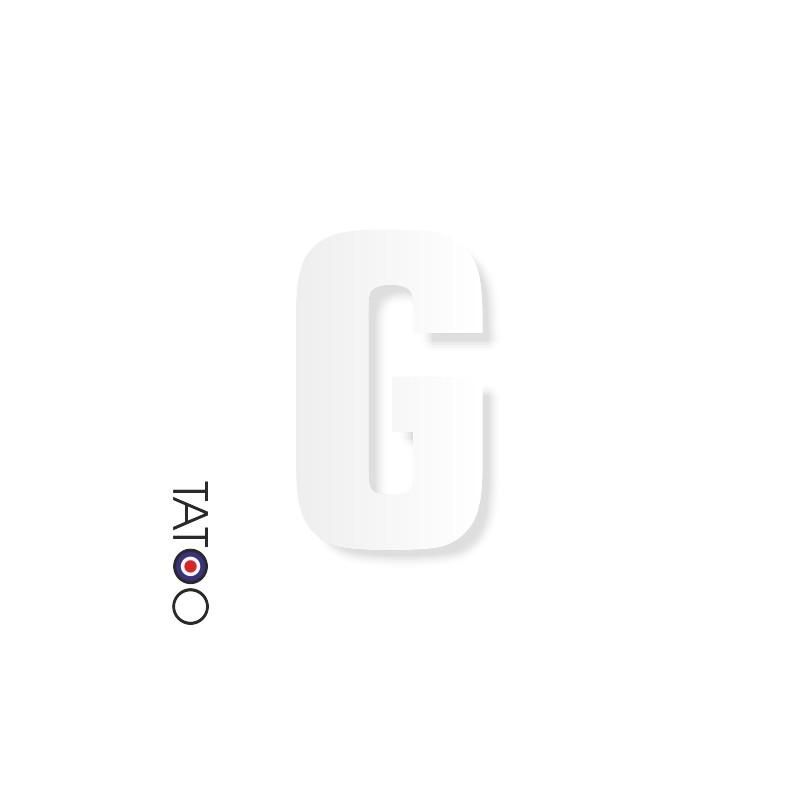 lettre polystyrène G caractère square volume