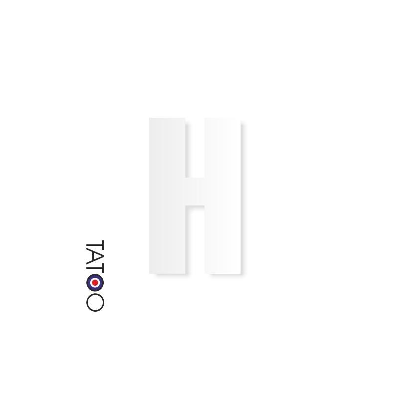 lettre polystyrène H caractère square volume