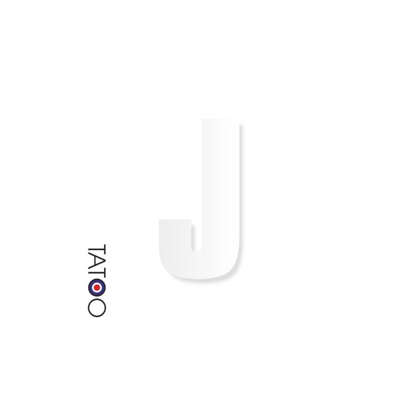 lettre polystyrène J caractère square volume