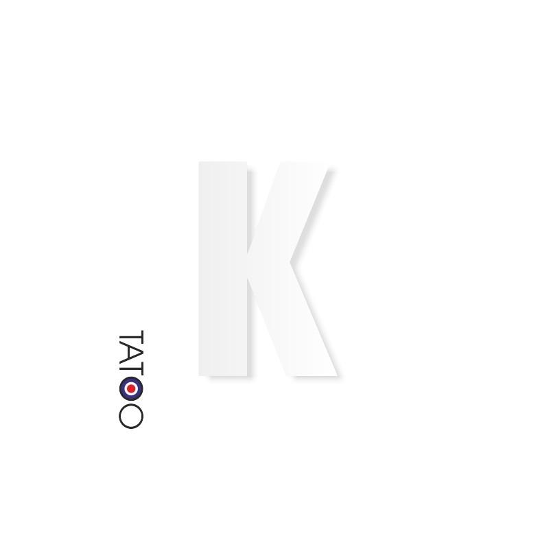 lettre polystyrène K caractère square volume
