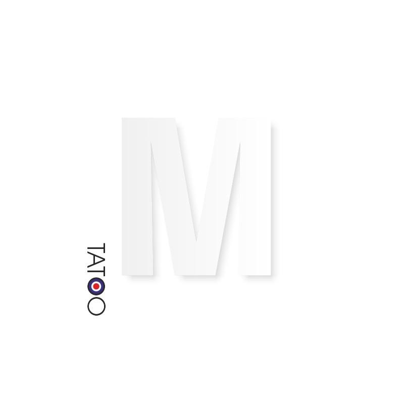 lettre polystyrène M caractère square volume