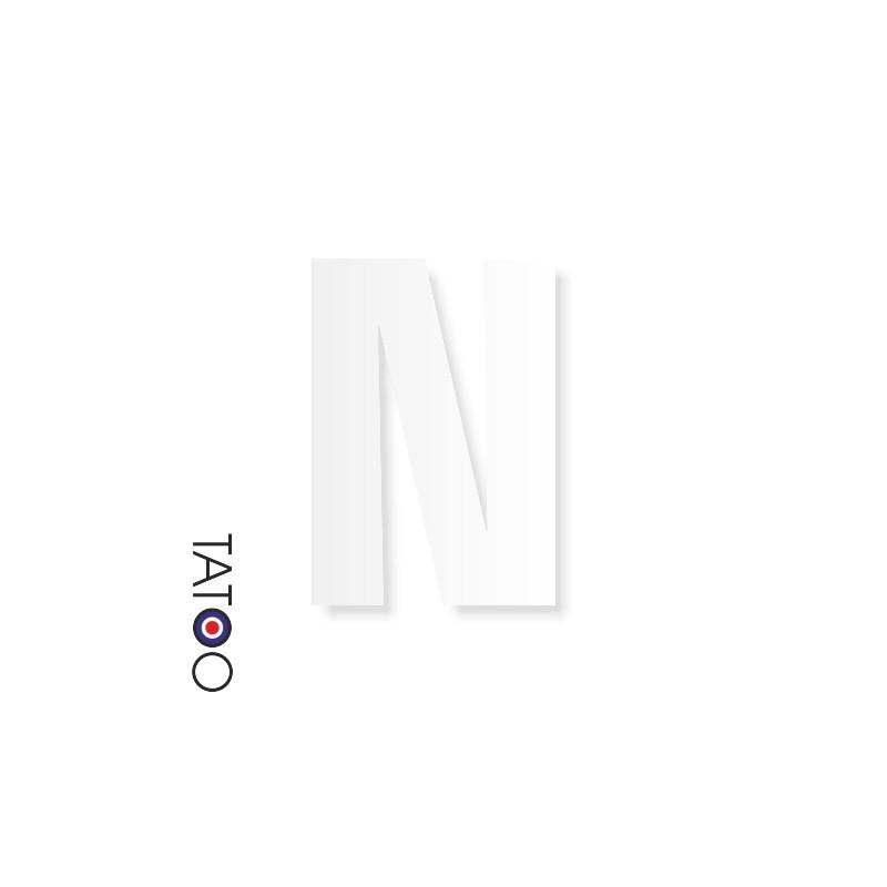 lettre polystyrène N caractère square volume