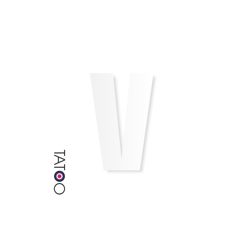 lettre polystyrène V caractère square volume