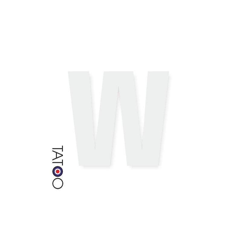lettre polystyrène W caractère square volume