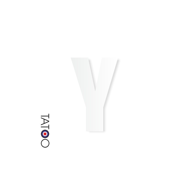 lettre polystyrène Y caractère square volume