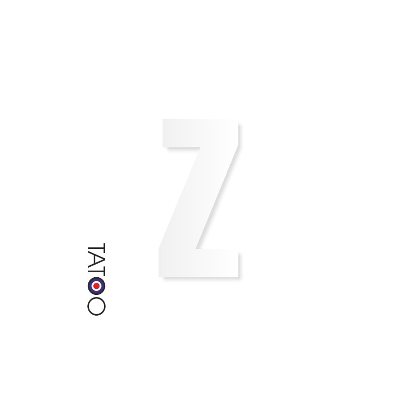 lettre polystyrène Z caractère square volume
