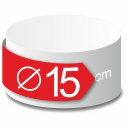 Rond polystyrène diamètre 15 cm