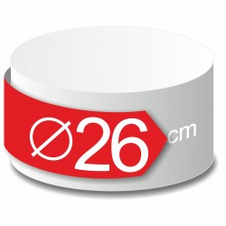 Rond polystyrène diamètre 26 cm