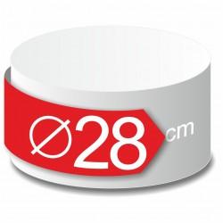 Rond polystyrène diamètre 28 cm