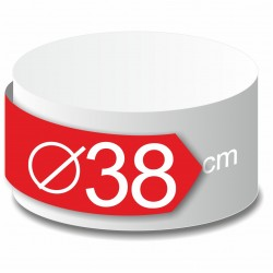 Rond polystyrène diamètre 38 cm