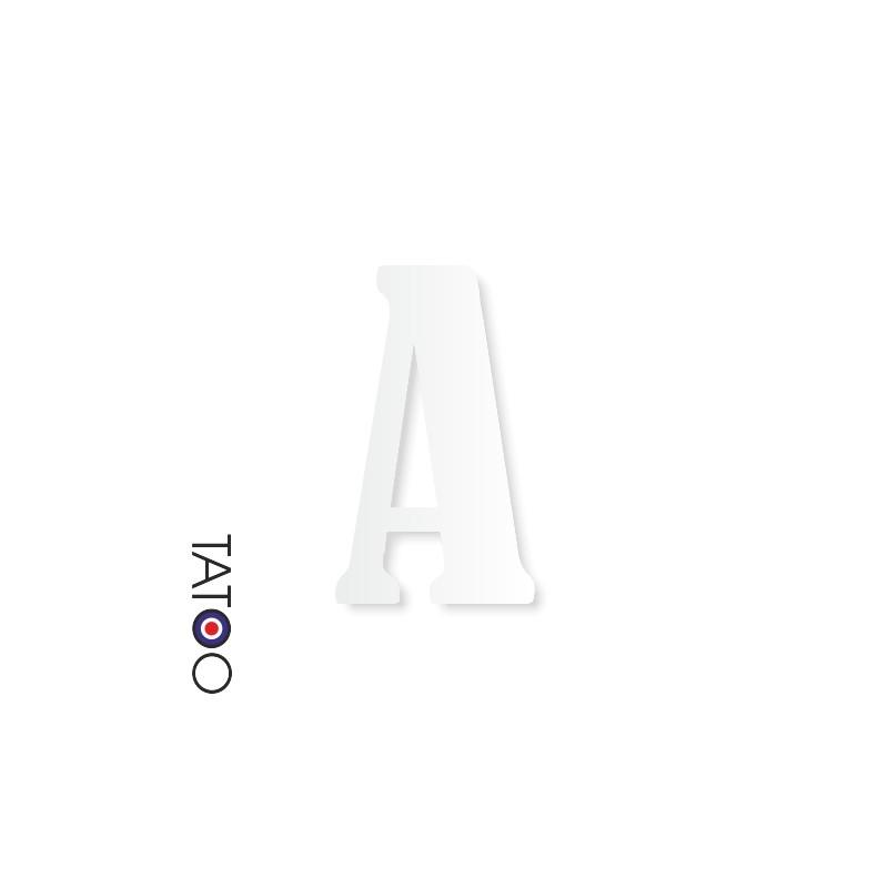 lettre polystyrène A caractère bernard texte volume