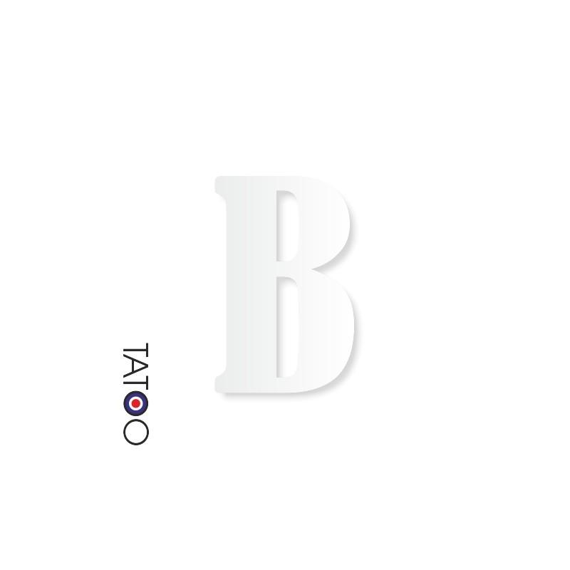 lettre polystyrène B caractère bernard texte volume