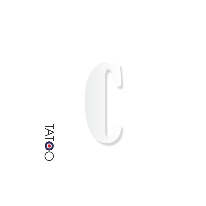 lettre polystyrène C caractère bernard texte volume