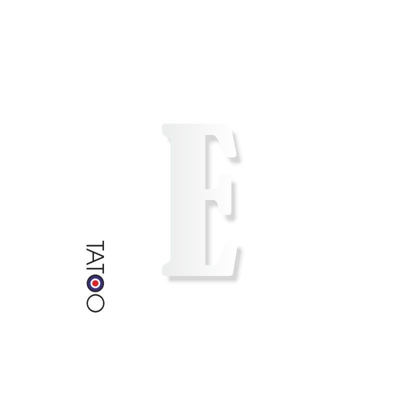 lettre polystyrène E caractère bernard texte volume